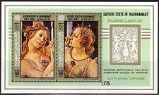 ADEN / Hadhramaut 1967 Art Paintings S. Botticelli S/S MNH** Mi.:Bl.18 16,00 Eur