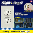 Pro Duplex Night Angel Light Sensor LED Plug Cover Wall Outlet Coverplate Lot