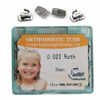 50 Sets/box Dental Orthodontic 1st Molar Non-convertible Roth 022 Buccal Tube