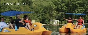 Self-bailing Pedal Boat by Future Beach - New    LOCAL PICKUP ONLY