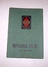 Moto Gilera - Motociclo 175 GT Tipo Militare Libretto  uso manutenzione ed. 1958
