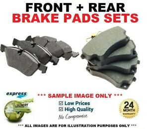 FRONT + REAR AXLE BRAKE PADS for AUDI A6 Avant 2.0 TDI 2013->on