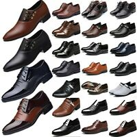 Men Formal Dress Leather Oxfords Shoes Casual Pointed Wedding Work Shoes Size 13