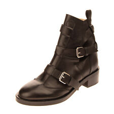 DIESEL Leather Ankle Boots EU 39 UK 6 US 8.5 Crumpled Effect Made in Portugal