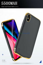 Backup Power Bank Battery Case Cover 5500mAh Charger For iPhone X XS 8 7 6S Plus