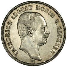 1908-E German States SAXONY-ALBERTINE SILVER 5 Mark KM#1266 ~ ORIGINAL XF/AU!