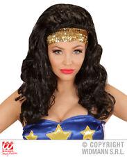 Wonder Girl Wig Super Hero Woman Fancy Dress Accessory