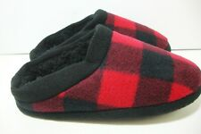Cuddl Duds Boys Red Plaid Slippers Small 1 2