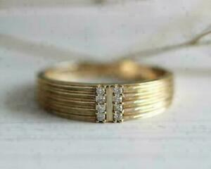 Expensive Engagement & Wedding Men's Ring 14K Yellow Gold Over 1.25 Ct Diamond