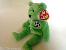 Ty Beanie Bear 'Kicks' - Retired - 1999 - Soccer - So Adorable!