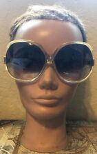 Vintage Paola Belle Green And Clear With Logo  Made In France  Sunglasses