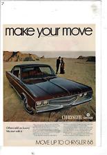 1968 CHRYSLER NEW YORKER 2-DOOR HARDTOP 440 CI V8 MAN WOMAN DESERT AD PRINT E759