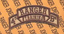 4th RTB AIRBORNE RANGER School Cadre scroll patch DCU