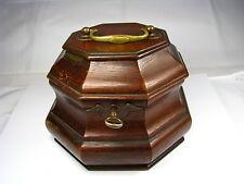 COLONIAL WILLIAMSBURG MAHOGANY TEA CADDY BOX Virginia USA ca1950s USED