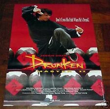 "Jackie Chan ""Drunken Master 2 II"" RARE Overseas English 1994 NEW POSTER"