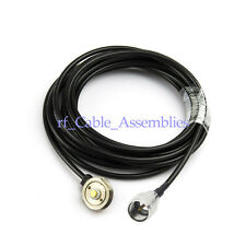 """NEW ANTENNA NMO MOUNT 3/4"""" HOLE WITH Coaxial RG58 CABLE 5M MINI UHF CONNECTOR"""
