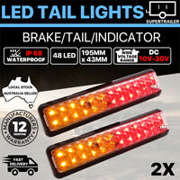 2X Trailer lights LED tail lights Truck Ute Caravan Boat Indicator iP68 12V 24V