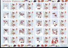 GREAT BRITAIN 2003, CHRISTMAS ROBINS, SMILERS SHEET, Scott 2003b, MNH