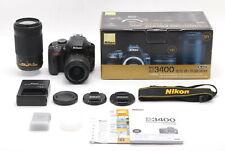 MINT/ Nikon D3400 [451shots] + AF-P 18-55mm  +70-300mm VR Set from Japan #1136