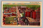 Lexington Kentucky KY Main Street Aerial View Vintage Curt Teich Postcard 1938