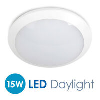 IP66 Indoor  Outdoor 15W Daylight LED 2D Flush Bulkhead Ceiling  Wall Light