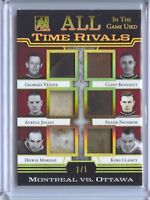 Montreal VS. Ottawa 2017-18 In The Game Used VINTAGE All Time Rivals SP #1/1