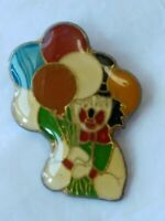 Vintage Lapel Pin Circus Clown with Balloons