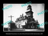 OLD LARGE HISTORIC PHOTO OF PHILADELPHIA PA, THE 24th St RAILROAD STATION c1890