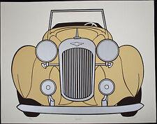 William OMURCADA, Original Serigraph, Lagonda, Signed Numbered 1976