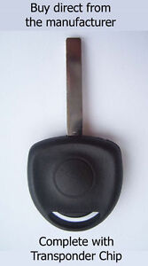 VAUXHALL Zafira 'A' 2004 COMPATIBLE SPARE KEY with ID40 Transponder Chip.