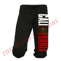 New Junior's California Republic Black Capri Sweatpants Yoga Fitness Pants Cali