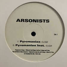 "ARSONISTS - PYROMANIAX b/w IN YOUR TOWN (12"") 1999!!  RARE!!  D-STROY + Q-UNIQUE"