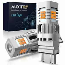 AUXITO 3157 4157 LED Amber Yellow Turn Signal Parking Corner Light bulb CANBUS
