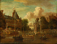 The Arrival of the Russian Embassy by Abraham Storck 75cm x 57cm Canvas Print