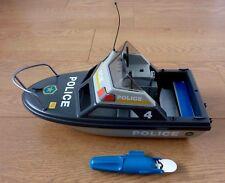 PLAYMOBIL polizia Patrol Boat GRANDE 12 pollici con motore elettrico (non funzionante)