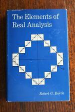 The Elements of Real Analysis Robert G. Bartle 1967 HC advanced mathematics