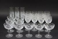 24tlg Gläserset Wein Champagner Sekt geschliffenes Bleikristall  (AN480)