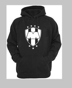 Club Monterrey Rayados  Black Hoodie Sweatshirt Mens