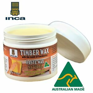 Inca Timberwax Paste Wax Natural Furniture Polish Clear 250gram