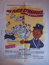 """Affiche Cinéma  """"Ces Flics étranges... venus d'ailleurs"""" - 1979  (120 x 160 cm)"""