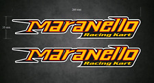 MARANELLO Racing Kart Stickers/Decals - 2 x 200mm Printed & Laminated - Karting