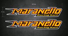 MARANELLO Racing Kart Stickers/Decals - 2 x 200mm x 35mm - Karting - Go-Kart