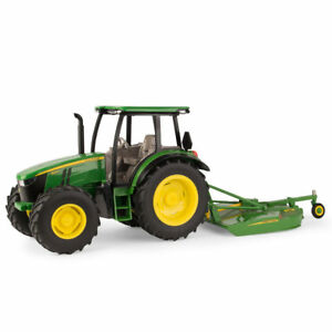 Ertl John Deere 1:16 Scale Model 5125R Tractor With MX7 Rotary Cutter