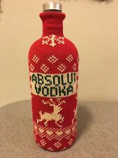 Absolut Vodka 1 Liter Bottle Sweater Cozy  By Cynthia Rowley