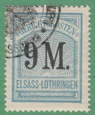 Alsace-Lorraine German Occup Court Fees Revenue Yvert #ALF67 used 9M 1900 cv $45