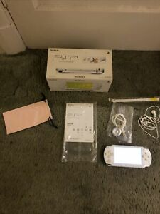 Boxed Sony PSP-1000 Ceramic White Handheld System