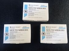 Dental Henry Schein Mouth Mirror Front Surface Cone Socket 5 Three Box Of 12