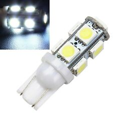10 x 9 SMD T10 White LED Car Bulb Side Light Lamp Wedge