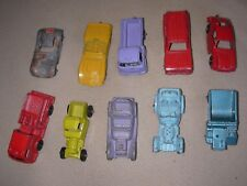 10 tootsietoy diecast metal cars trucks corvette pumper panel Porsche jeep etc