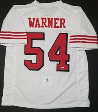 FRED WARNER Signed SF 49ERS White SZ XL jersey. WITNESS BECKETT